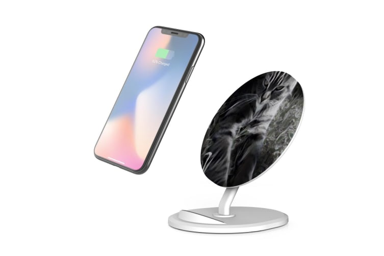 QI Wireless Charger For iPhone 11 Samsung Galaxy S20+ S20 Ultra Note 10+ Meow