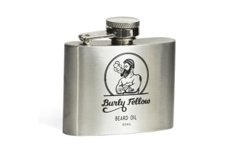Burly Fellow Beard Oil In A Flask 50ml - Lime And Mint