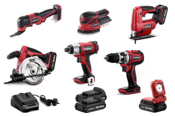Certa 7 Piece PowerPlus 18V Combo Kit with Brushless Drill