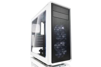 FRACTAL DESIGN Focus G MId Tower Case white with window