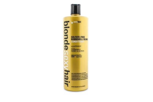 Sexy Hair Concepts Blonde Sexy Hair Sulfate-Free Bombshell Blonde Conditioner (Daily Color Preserving) (1000ml/33.8oz)