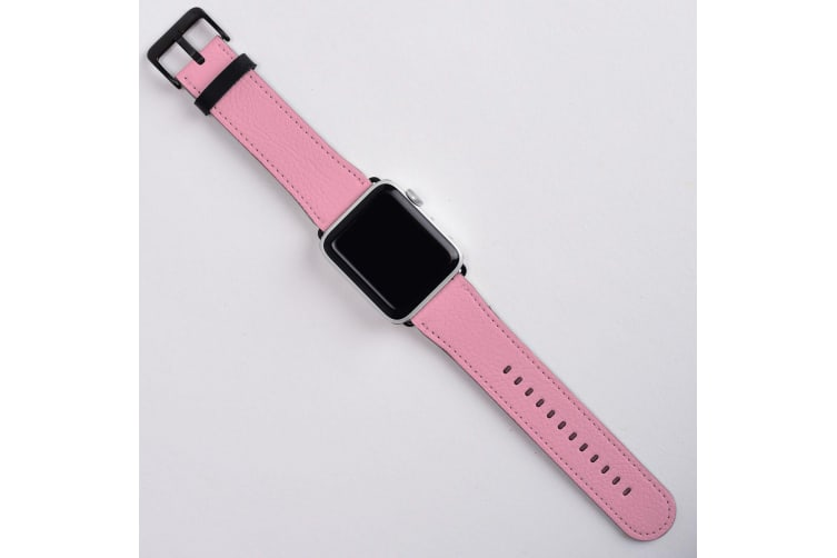 For Apple Watch Band (38mm) Series 1  2  3 & 4 Vegan Leather Strap  iWatch Pink