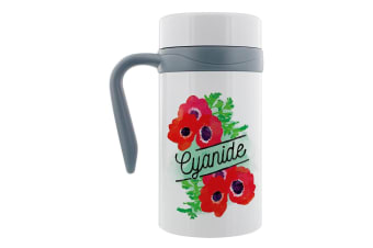 Deadly Detox Cyanide Thermal Travel Mug With Handle (White)
