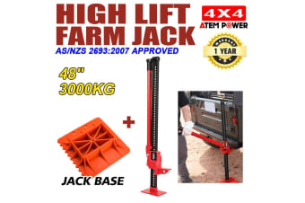 "ATEM POWER 3000Kg Hi Lift High Farm Jack 48"" inch w/ Jack Base Heavy Duty 4WD"
