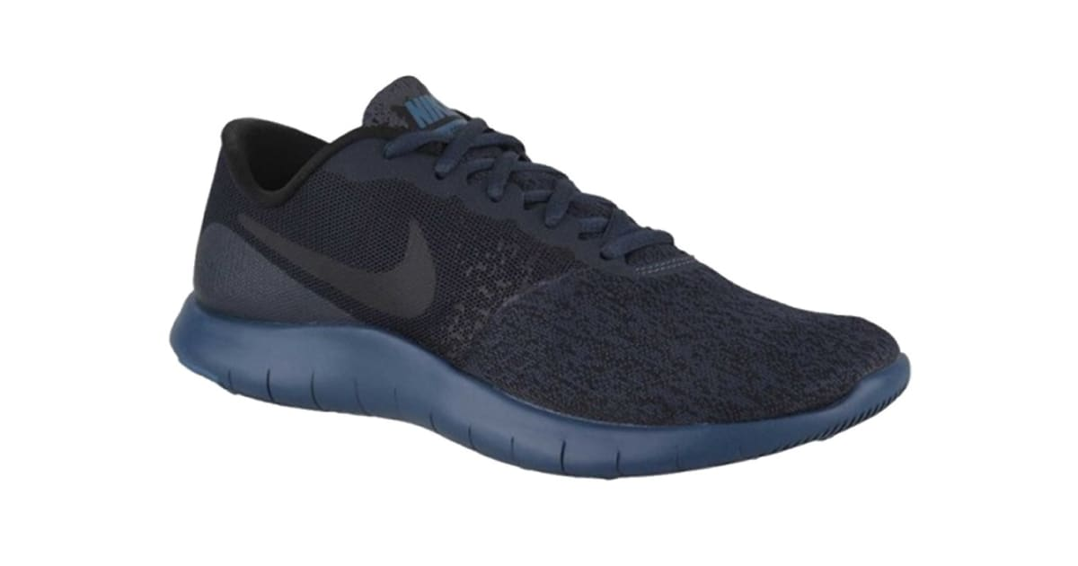 Nike Women's Flex Contact Running Shoes (Armory NavyBlack Blue Force, Size 7 US)   Shoes  