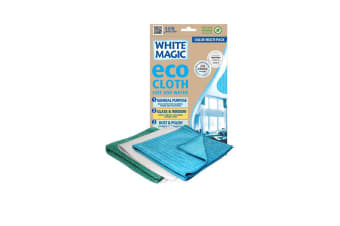 White Magic Eco Cloth Household 3pk Assorted