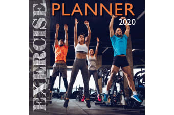 Exercise Planner - 2020 Premium Square Wall Calendar 16 Months New Year Gym Home