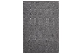 Shiva Stunning Black Diamond Wool Rug 320x230cm