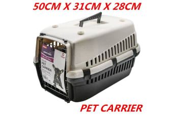 Portable Travel Pet Dog Cat Carrier 50X31X28CM Crate Transporter Cage House Kennel Airline