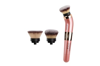 Select Mall Electric Rotating Makeup Brush 360 Degree Rotary Cosmetic Brush with Premium Synthetic Foundation and Blush Heades 2 Brush Heads Included