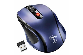 Wireless 2.4Ghz 2400 DPI Optical Gaming Mouse Mice USB Receiver Quiet Click BUY