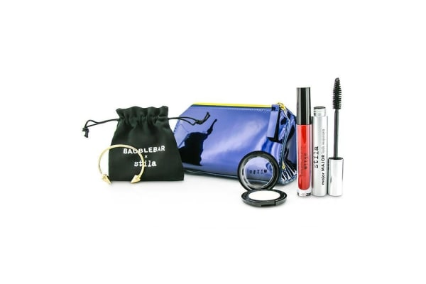 Stila New Years Eve Glam Makeup Set (1x Eyeshadow, 1x Liquid Lipstick, 1x Mascara, 1x Bangle with Pouch, 1x Clutch) (-)