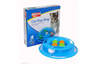 Animal Instincts Cat Play Ring (Blue) (One Size)