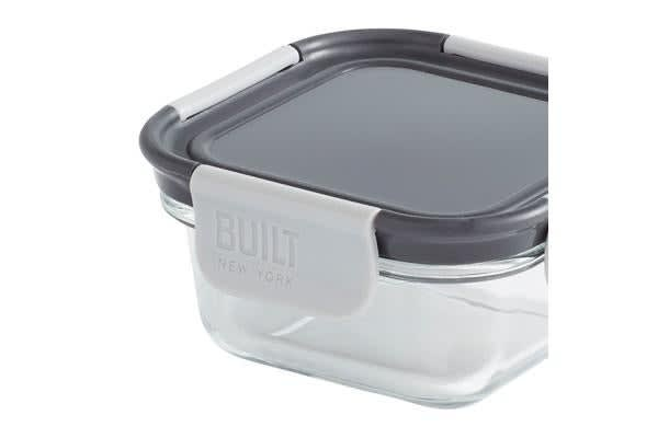 BUILT NY Gourmet Glass Snack Bento Lunch Box 300ml