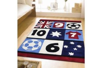 Awesome Soccer Southern Cross Rug Blue 220x150cm