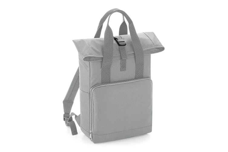 BagBase Twin Handle Roll-Top Backpack (Light Grey) (One Size)