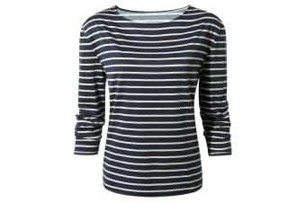 Craghoppers Womens/Ladies Delamere Long Sleeve Top (Soft Navy Combo) (16)