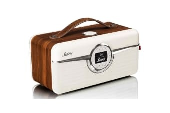 View Quest Susie-Q Smart Digital DAB Radio/Speaker Bluetooth/NFC Walnut Wood