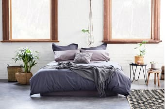 Jamie Durie By Ardor Natal Quilt Cover Set (King/Ink)
