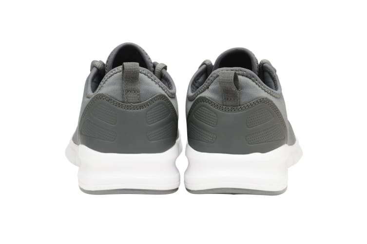 Lonsdale Mens Zambia Lace Up Trainers (Charcoal/White) (8 UK)
