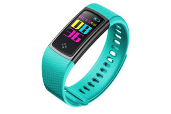"TODO Bluetooth V4.0 Fitness Watch Band Heart Rate Blood Pressure Ip67 0.96"" Oled - Blue"