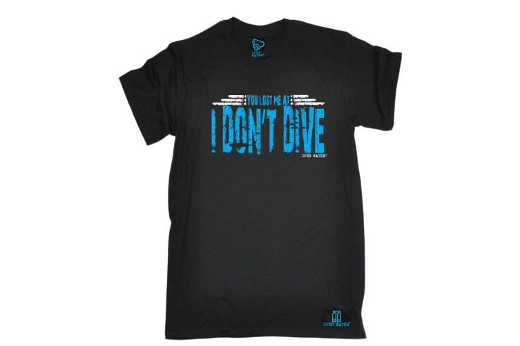 Open Water Scuba Diving Tee - You Lost Me At I Dont Dive - (3X-Large Black Mens T Shirt)