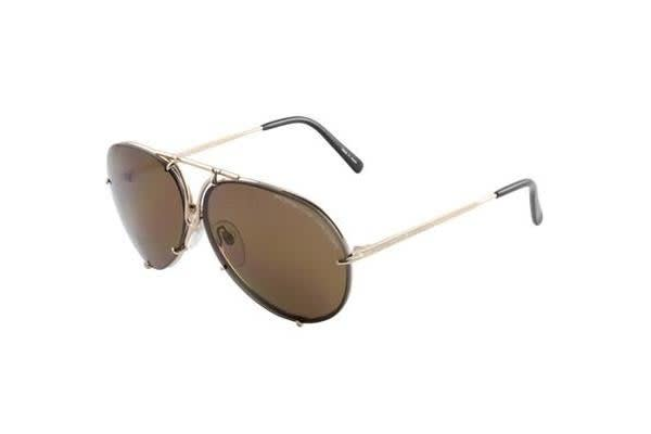Porsche Design 8478 - Light Gold (Brown lens) / 63--10--135 Unisex Sunglasses