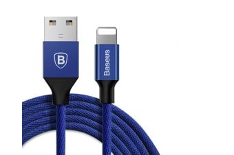 Phone Charger Usb Braided Cord Data Line For Iphone X / 8 / 8 Plus / 7/ 7 Plus/ 6S/ 6 Plus Navy 3.0M