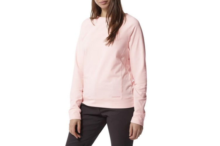 Craghoppers Womens/Ladies NosiLife Sydney Crew Sweatshirt (Seashell Pink) (10 UK)
