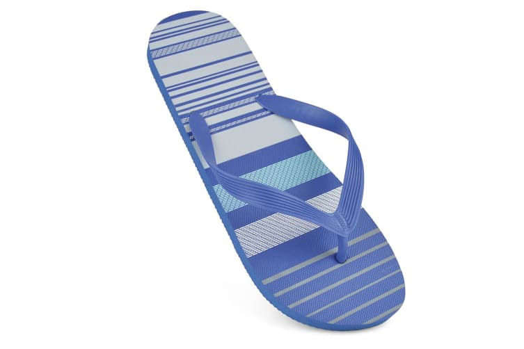Sandrocks Mens Striped Flip Flops (Blue) (7/8 UK)