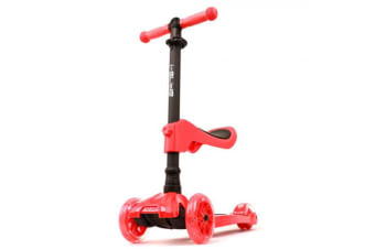 I-GLIDE Complete 3-Wheel Scooters with Seat - Red