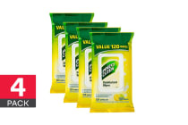 480 Pine O Cleen Surface Wipes - Lemon Lime Burst (4 x 120 Pack)