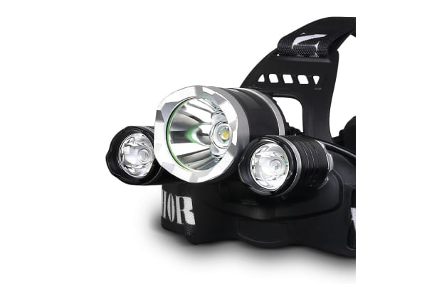 Set of 2 Four Mode LED Flash Torch Headlamp