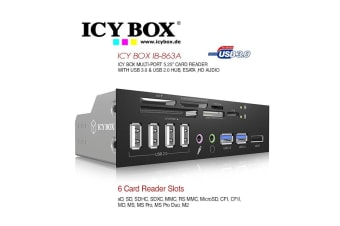 "ICY BOX 5.25"" Card Reader with multiport front panel  (IB-863a-B)"