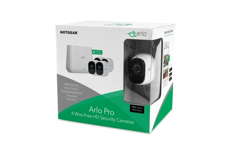 Arlo VMS4430 Indoor/Outdoor Wire-Free HD Home Security System with 4 x Arlo Pro Cameras (VMS4430-100AUS)