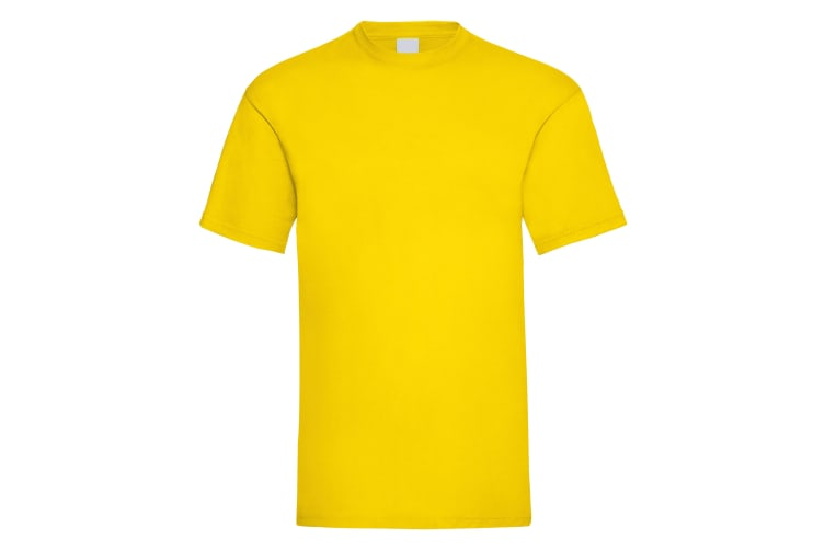 Mens Value Short Sleeve Casual T-Shirt (Bright Yellow) (X Large)