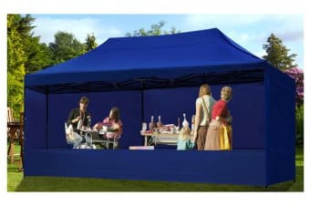 3x6m Gazebo Outdoor PopUp Tent Folding Marquee BLUE