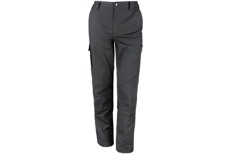 """Result Mens Stretch Work Trousers / Pants (32 Inch Leg Length) (Black) (44"""")"""