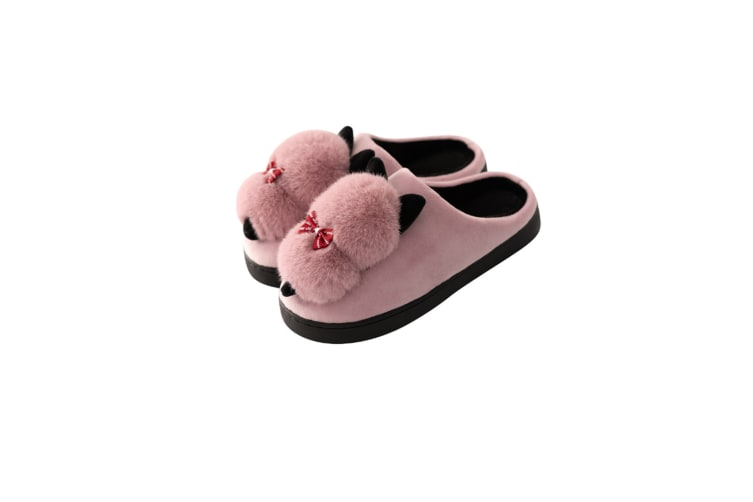 Unisex Cute Cartoon Cozy Memory Foam Slippers With Fuzzy Plush Wool-Like Lining - Purple Purple 40-41