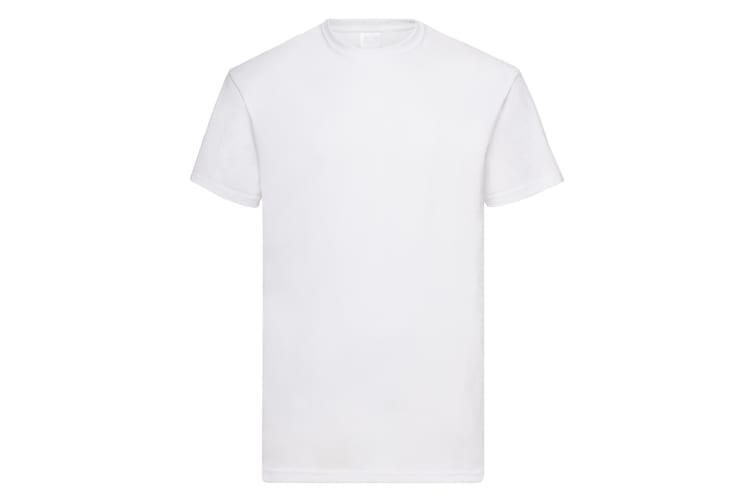 Mens Value Short Sleeve Casual T-Shirt (Snow) (Large)