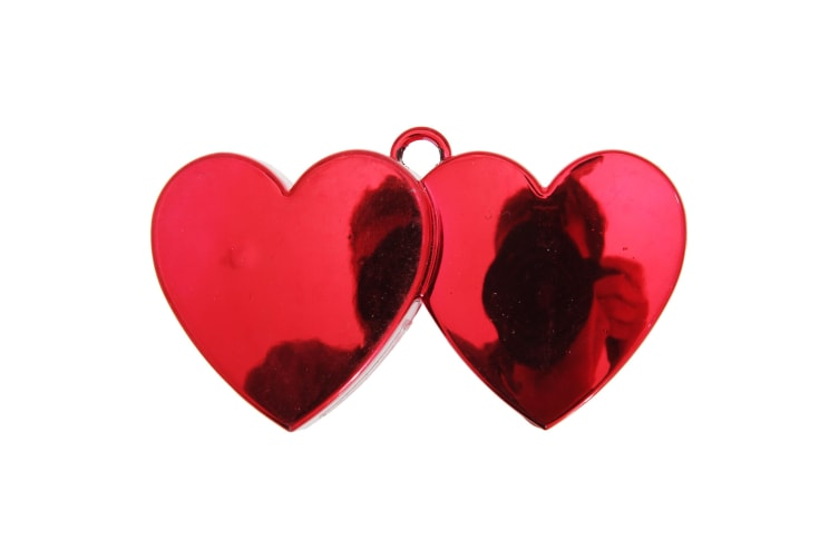Amscan Double Heart Balloon Weight (Red) (One Size)