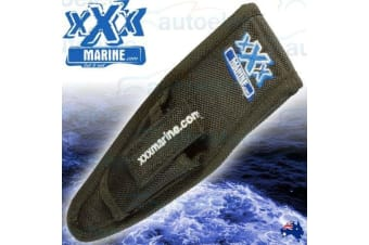 XXX MARINE FISHING TOOL BELT FIT CARRY POUCH SHEATH WITH VELCRO FLAP FT4