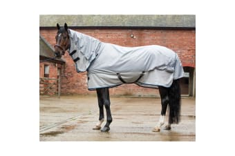 Mark Todd Showerproof Combo Fly Rug (Grey/Silver) (6 ft)