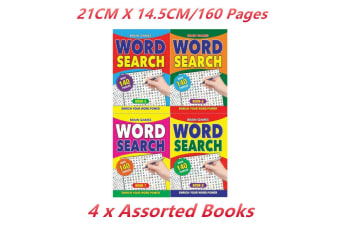 4 x Wordsearch Puzzle Brain Game Book Word Search Find Vocabulary A5 Kids
