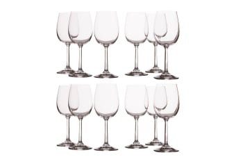 12pc Casa Domani 350ml Evolve Red Wine Glass Glasses Bar Tableware Drinks Set