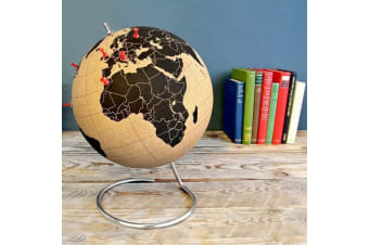 SUCK UK Large Cork World Globe | Globe Trotters Gift for travelers Designer homewares