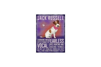 Jack Russell Hanging Metal Sign (Purple)