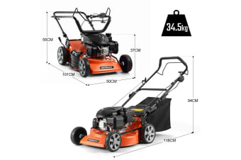 "Shogun 18"" Petrol Powered Lawn Mower 4 Stroke Lawnmower w/ 139cc Engine"