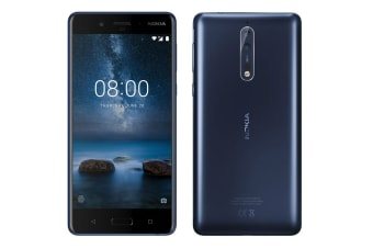 Nokia 8 (64GB, Satin Blue)