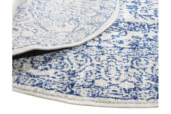 Frost Blue Transitional Rug 150x150cm
